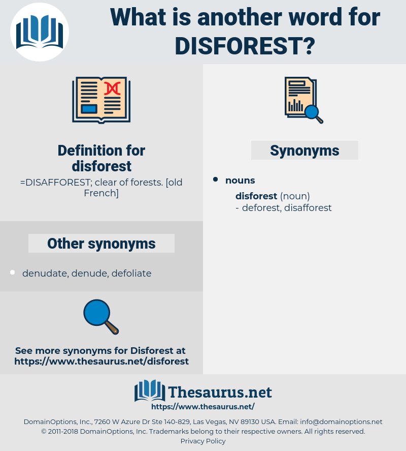 disforest, synonym disforest, another word for disforest, words like disforest, thesaurus disforest
