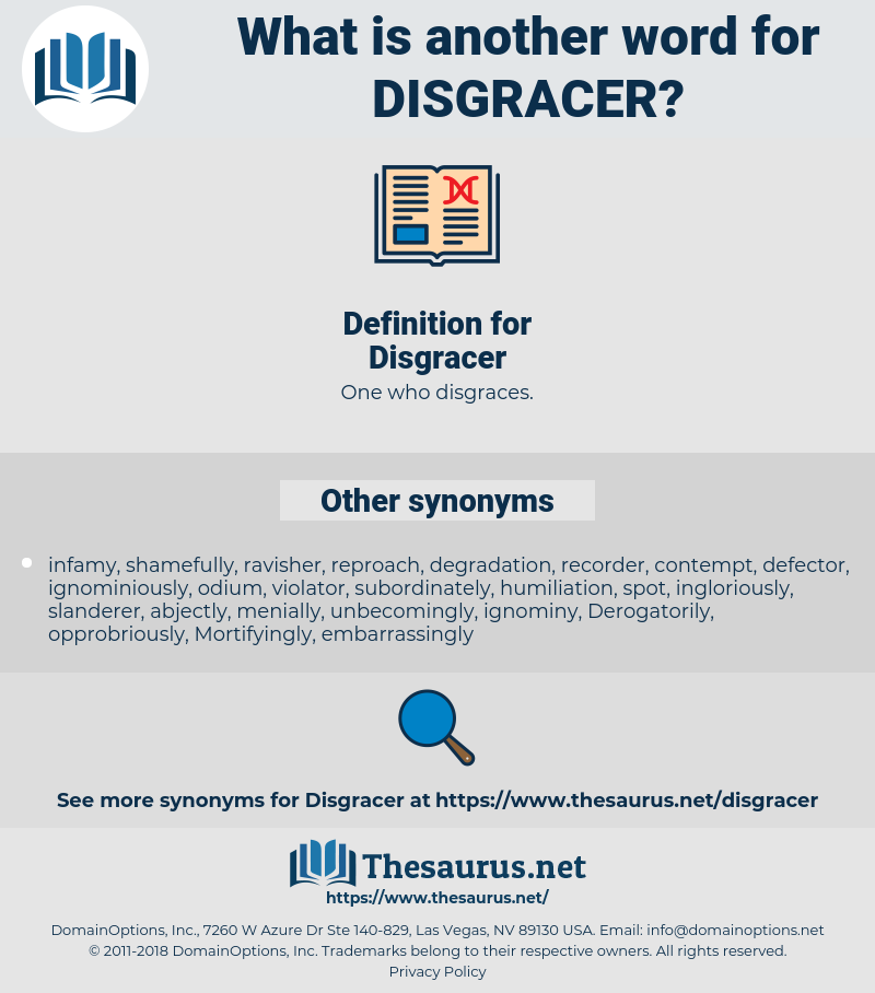 Disgracer, synonym Disgracer, another word for Disgracer, words like Disgracer, thesaurus Disgracer