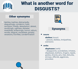 disgusts, synonym disgusts, another word for disgusts, words like disgusts, thesaurus disgusts