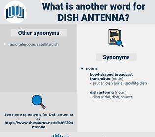 dish antenna, synonym dish antenna, another word for dish antenna, words like dish antenna, thesaurus dish antenna