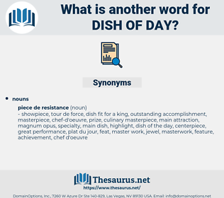 dish of day, synonym dish of day, another word for dish of day, words like dish of day, thesaurus dish of day