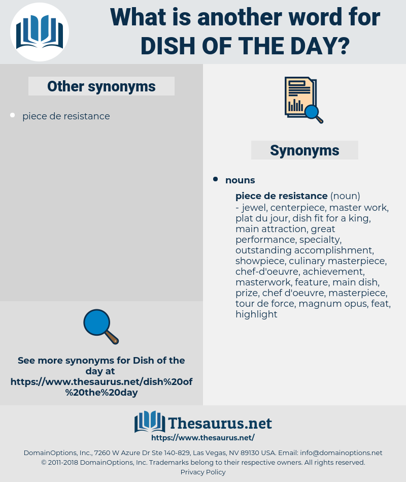 dish of the day, synonym dish of the day, another word for dish of the day, words like dish of the day, thesaurus dish of the day