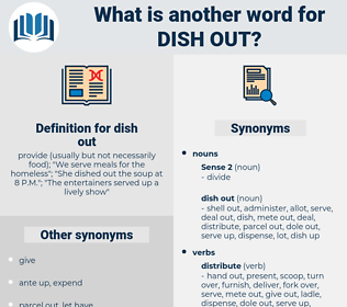 dish out, synonym dish out, another word for dish out, words like dish out, thesaurus dish out