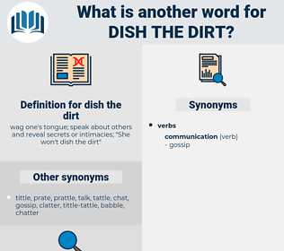dish the dirt, synonym dish the dirt, another word for dish the dirt, words like dish the dirt, thesaurus dish the dirt