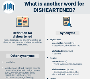 disheartened, synonym disheartened, another word for disheartened, words like disheartened, thesaurus disheartened