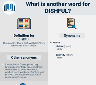 dishful, synonym dishful, another word for dishful, words like dishful, thesaurus dishful