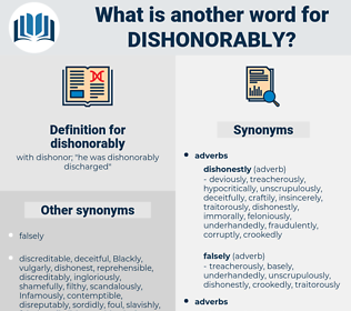 dishonorably, synonym dishonorably, another word for dishonorably, words like dishonorably, thesaurus dishonorably