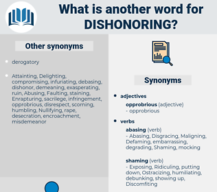 Dishonoring, synonym Dishonoring, another word for Dishonoring, words like Dishonoring, thesaurus Dishonoring