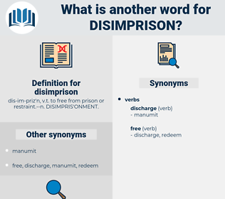 disimprison, synonym disimprison, another word for disimprison, words like disimprison, thesaurus disimprison