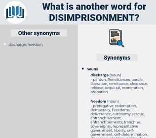 disimprisonment, synonym disimprisonment, another word for disimprisonment, words like disimprisonment, thesaurus disimprisonment