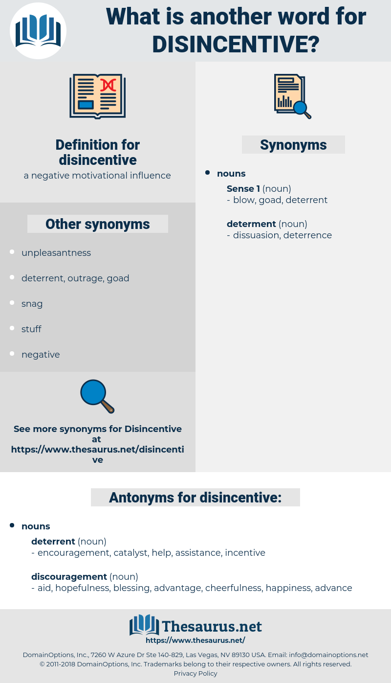 disincentive, synonym disincentive, another word for disincentive, words like disincentive, thesaurus disincentive