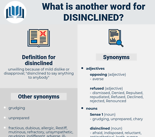 disinclined, synonym disinclined, another word for disinclined, words like disinclined, thesaurus disinclined