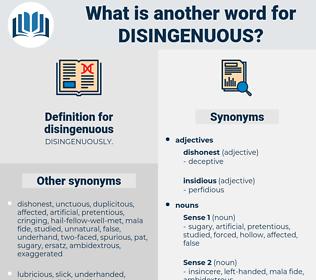 disingenuous, synonym disingenuous, another word for disingenuous, words like disingenuous, thesaurus disingenuous