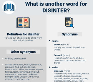 disinter, synonym disinter, another word for disinter, words like disinter, thesaurus disinter