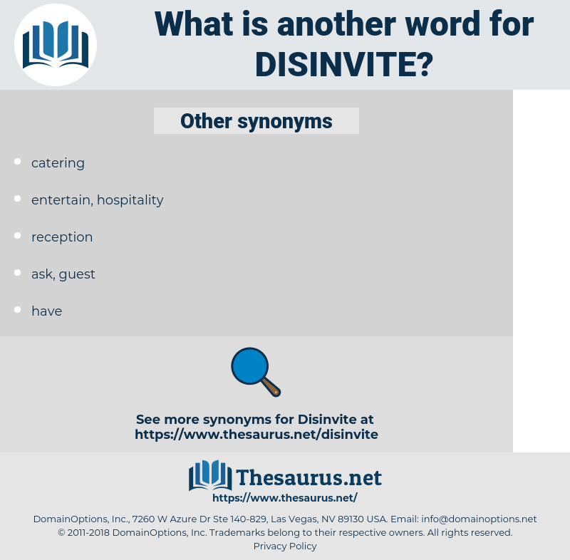 disinvite, synonym disinvite, another word for disinvite, words like disinvite, thesaurus disinvite