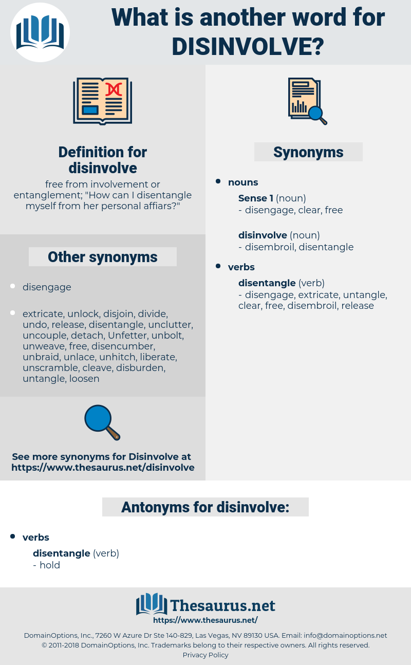 disinvolve, synonym disinvolve, another word for disinvolve, words like disinvolve, thesaurus disinvolve