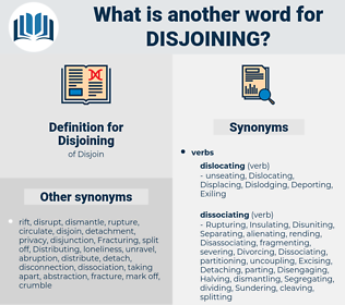 Disjoining, synonym Disjoining, another word for Disjoining, words like Disjoining, thesaurus Disjoining