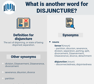 disjuncture, synonym disjuncture, another word for disjuncture, words like disjuncture, thesaurus disjuncture