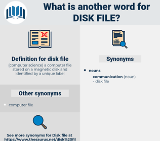 disk file, synonym disk file, another word for disk file, words like disk file, thesaurus disk file
