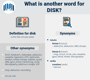 disk, synonym disk, another word for disk, words like disk, thesaurus disk
