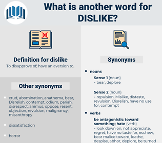 dislike, synonym dislike, another word for dislike, words like dislike, thesaurus dislike