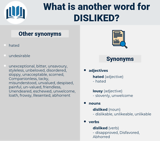 disliked, synonym disliked, another word for disliked, words like disliked, thesaurus disliked
