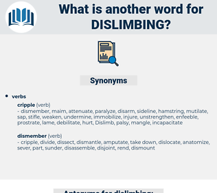 dislimbing, synonym dislimbing, another word for dislimbing, words like dislimbing, thesaurus dislimbing