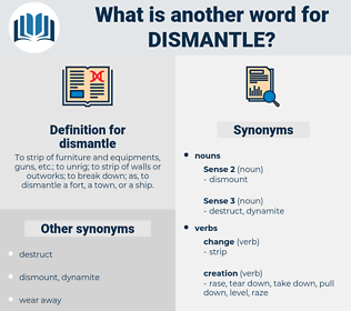 dismantle, synonym dismantle, another word for dismantle, words like dismantle, thesaurus dismantle