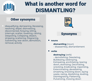 dismantling, synonym dismantling, another word for dismantling, words like dismantling, thesaurus dismantling