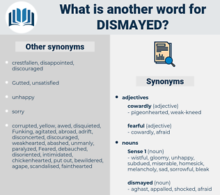 dismayed, synonym dismayed, another word for dismayed, words like dismayed, thesaurus dismayed