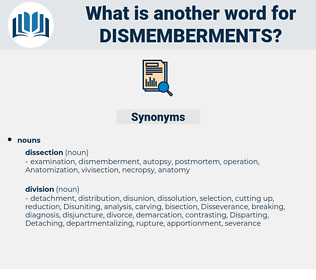 dismemberments, synonym dismemberments, another word for dismemberments, words like dismemberments, thesaurus dismemberments