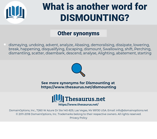 Dismounting, synonym Dismounting, another word for Dismounting, words like Dismounting, thesaurus Dismounting