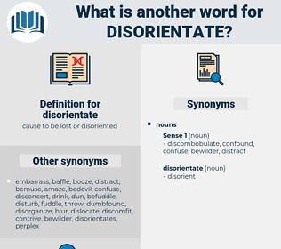 disorientate, synonym disorientate, another word for disorientate, words like disorientate, thesaurus disorientate