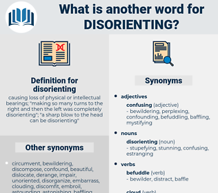 disorienting, synonym disorienting, another word for disorienting, words like disorienting, thesaurus disorienting
