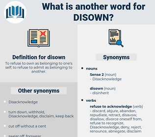 disown, synonym disown, another word for disown, words like disown, thesaurus disown