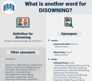 disowning, synonym disowning, another word for disowning, words like disowning, thesaurus disowning
