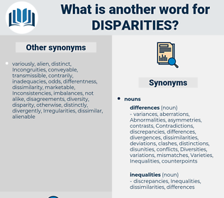 Disparities, synonym Disparities, another word for Disparities, words like Disparities, thesaurus Disparities
