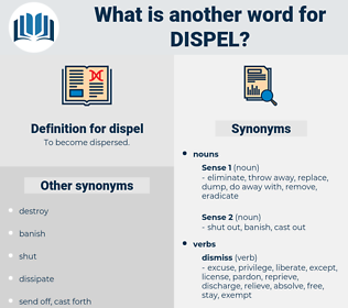 dispel, synonym dispel, another word for dispel, words like dispel, thesaurus dispel