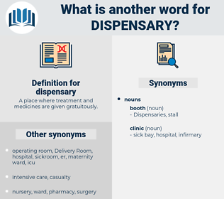 dispensary, synonym dispensary, another word for dispensary, words like dispensary, thesaurus dispensary