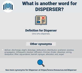 Disperser, synonym Disperser, another word for Disperser, words like Disperser, thesaurus Disperser