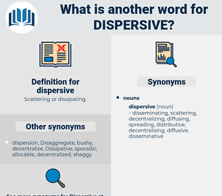 dispersive, synonym dispersive, another word for dispersive, words like dispersive, thesaurus dispersive