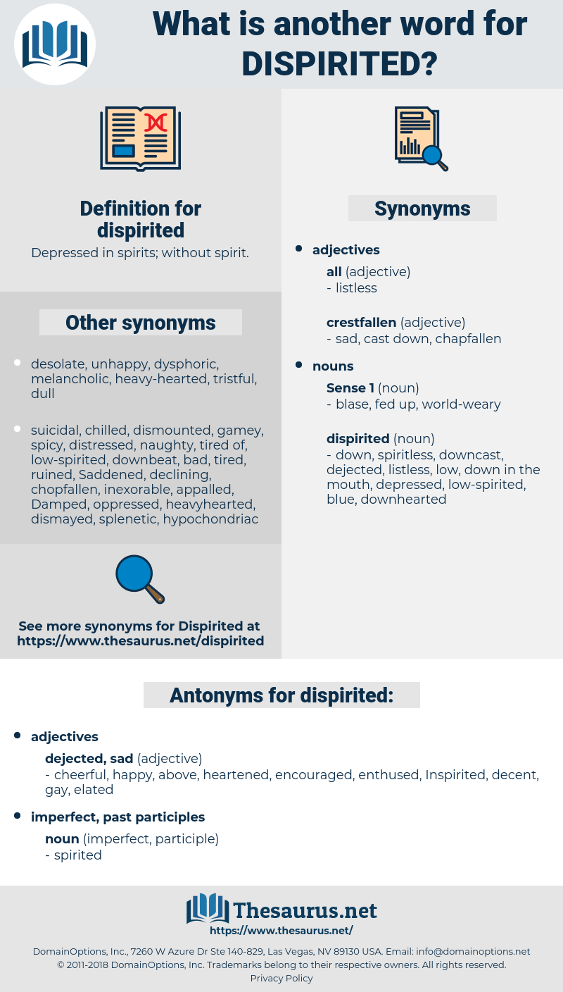 dispirited, synonym dispirited, another word for dispirited, words like dispirited, thesaurus dispirited