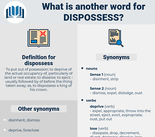 dispossess, synonym dispossess, another word for dispossess, words like dispossess, thesaurus dispossess