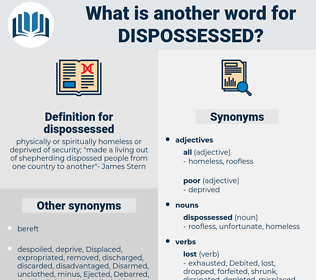 dispossessed, synonym dispossessed, another word for dispossessed, words like dispossessed, thesaurus dispossessed