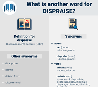 dispraise, synonym dispraise, another word for dispraise, words like dispraise, thesaurus dispraise