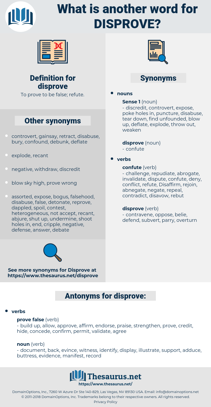 disprove, synonym disprove, another word for disprove, words like disprove, thesaurus disprove