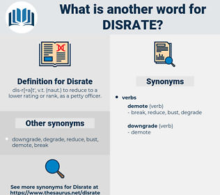 Disrate, synonym Disrate, another word for Disrate, words like Disrate, thesaurus Disrate