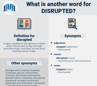 disrupted, synonym disrupted, another word for disrupted, words like disrupted, thesaurus disrupted