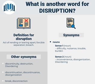 disruption, synonym disruption, another word for disruption, words like disruption, thesaurus disruption