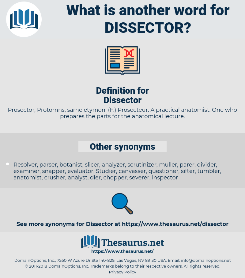 Dissector, synonym Dissector, another word for Dissector, words like Dissector, thesaurus Dissector